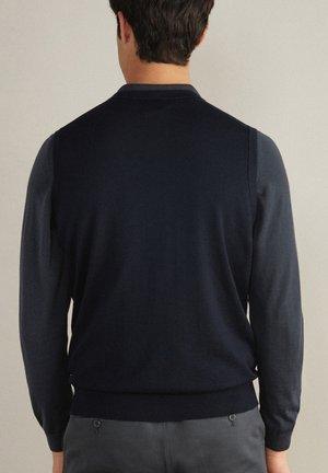 MIT KNÖPFEN - Waistcoat - blu navy
