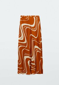 Massimo Dutti - MIT PRINT  - A-line skirt - orange - 1