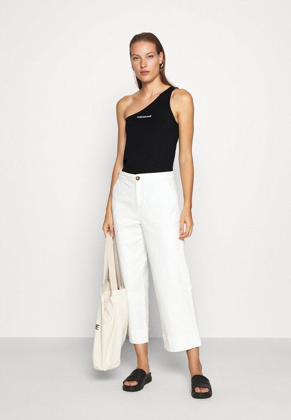 Calvin Klein Jeans Top - black Kolor jednolity Odzież Damska JUNF NO 4