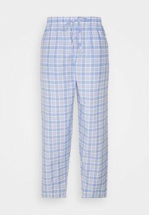 Nattøj bukser - light blue/white