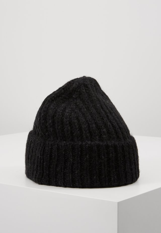 KNITTED HAT - Čepice - black