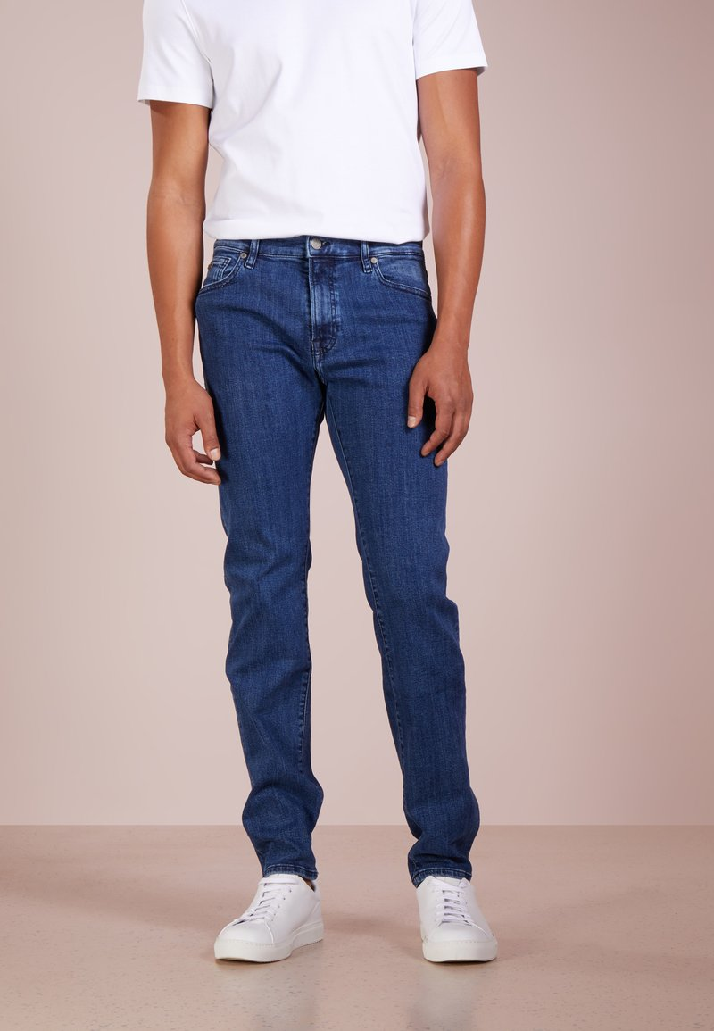 BOSS - MAINE - Straight leg jeans - medium blue