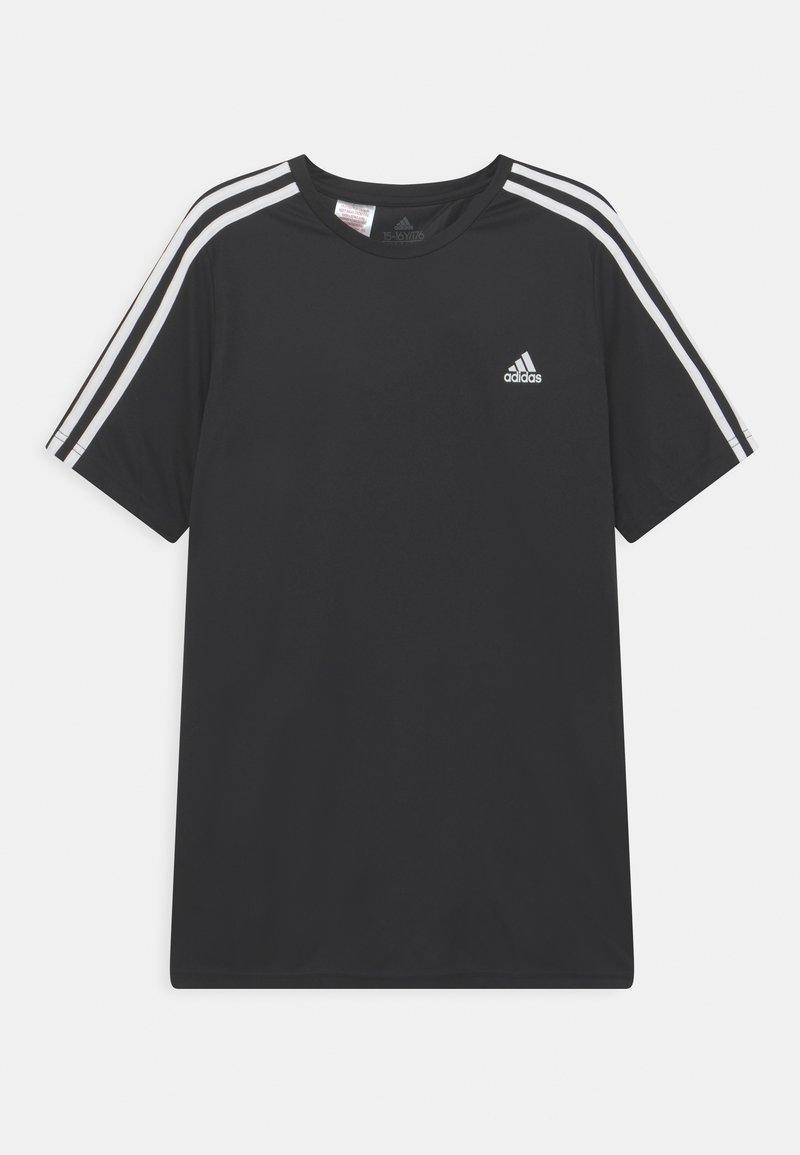 adidas Performance - T-shirt med print - black/white