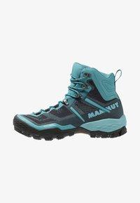 Mammut - DUCAN HIGH GTX WOMEN - Hiking shoes - dark waters - 0