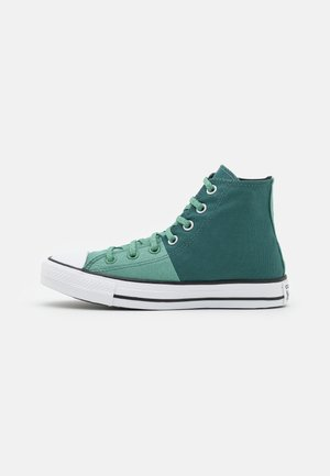 CHUCK TAYLOR ALL STAR SPLIT UNISEX - Höga sneakers - forest pine/cool sage/white