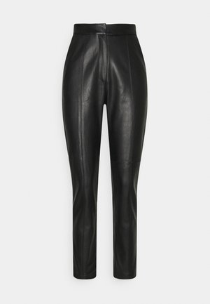SEAM DETAIL PANTS - Trousers - black