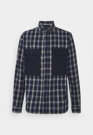 OLIVER CHECK - Shirt - navy