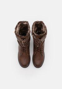 TOM TAILOR - Lace-up boots - cognac - 4