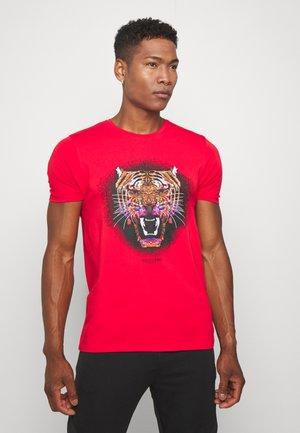 GROWLER - Print T-shirt - red
