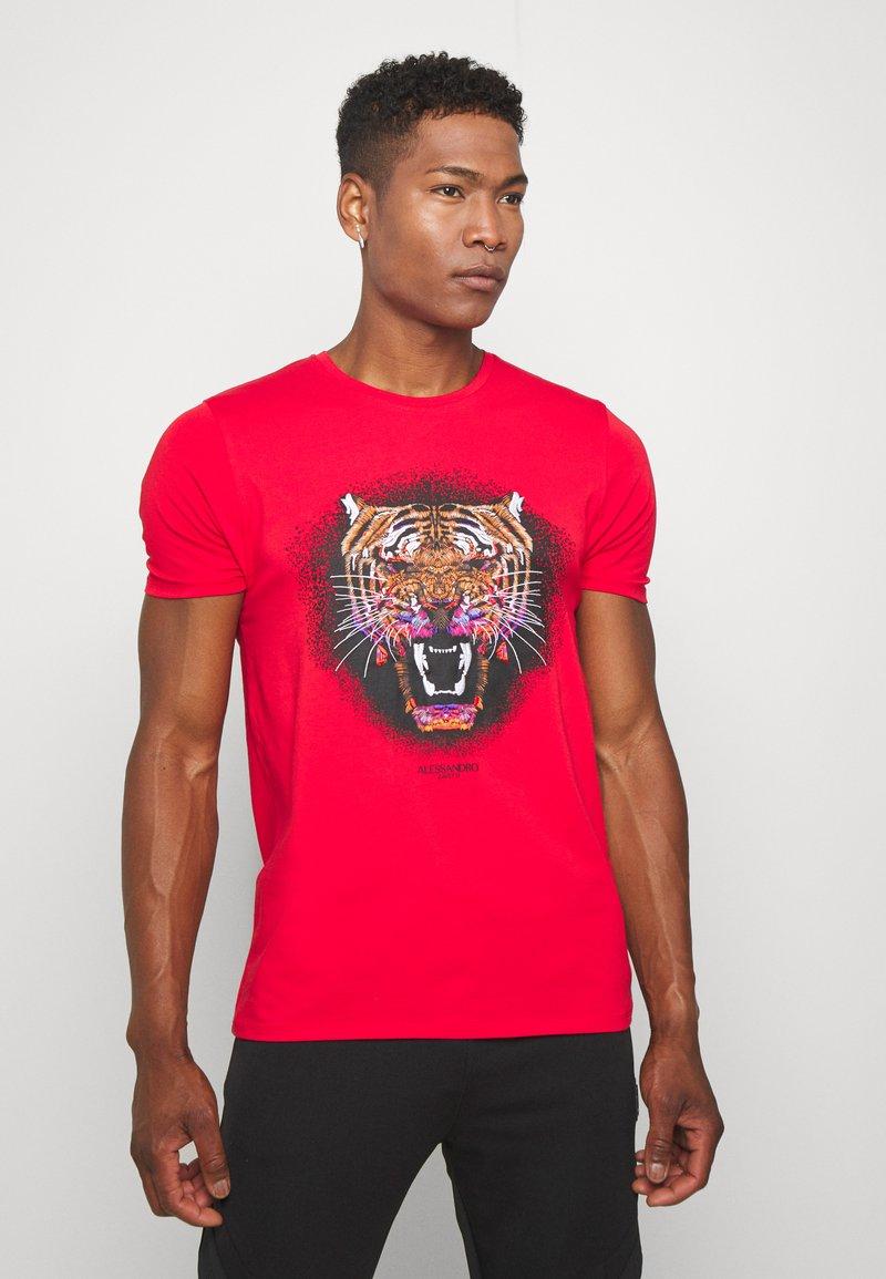 Alessandro Zavetti - GROWLER - T-shirt con stampa - red