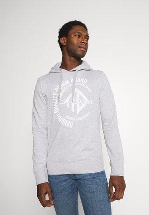 HOODY WITH PRINT - Sweatshirt - light stone grey melange