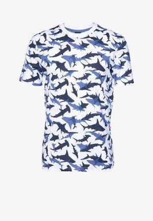 TSHARK - Print T-shirt - off-white