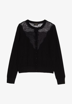 WITH LACE INSERTS - Cardigan - black