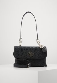 Guess - CHIC SHINE SHOULDER BAG - Handbag - black - 1
