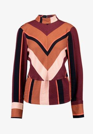 Blouse - brown patina/stripes