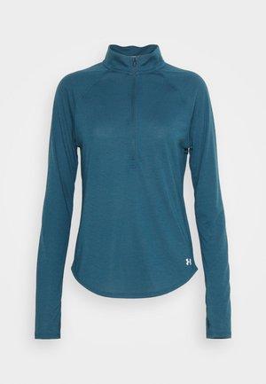STREAKER HALF ZIP - Long sleeved top - blue/silver