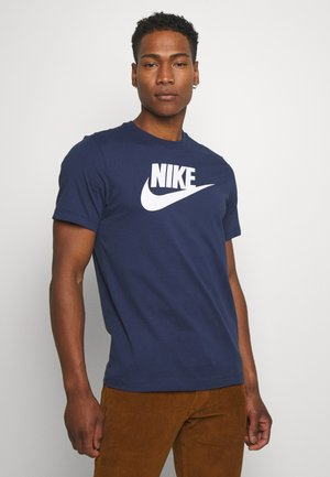 TEE ICON FUTURA - T-shirt med print - midnight navy/white