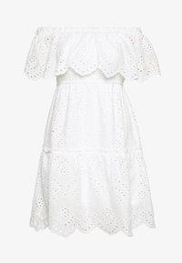 VILA PETITE - VISABELLA OFFSHOULDER DRESS - Robe d'été - snow white - 0