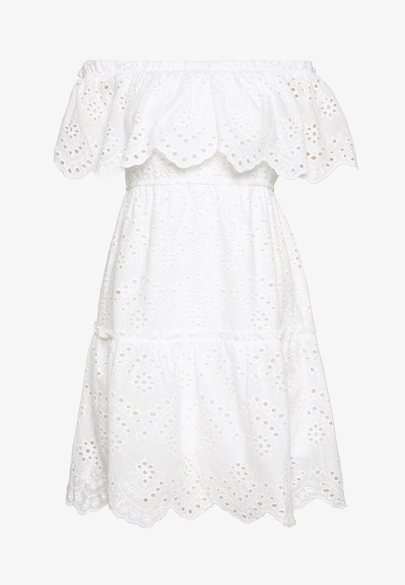 VILA PETITE - VISABELLA OFFSHOULDER DRESS - Robe d'été - snow white