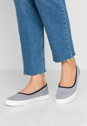 Ballet pumps - dark blue/white