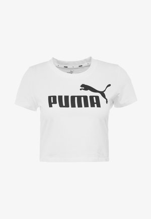 FITTED TEE - T-shirt z nadrukiem - puma white