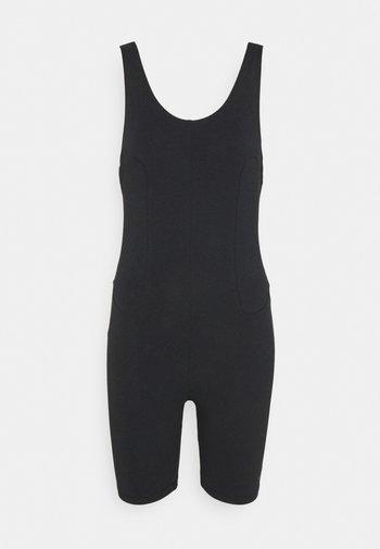 ONE PIECE - Jumpsuit - black/dark smoke grey