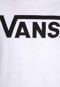 Vans - CLASSIC BOYS - T-shirt z nadrukiem - white/black - 2