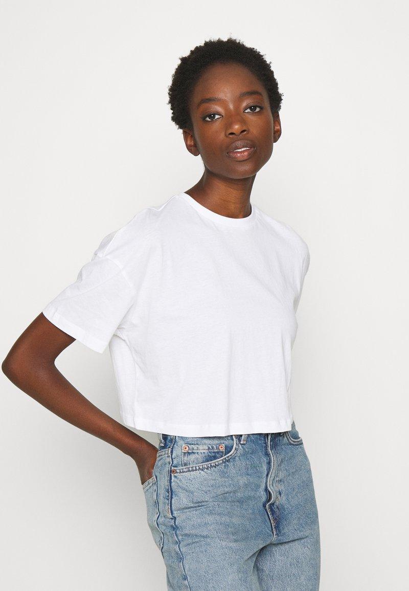 Even&Odd - 2 PACK - Basic T-shirt - black/white