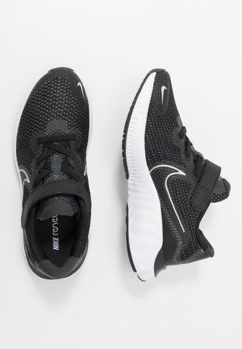 RENEW RUN UNISEX - Neutral running shoes - black/metallic silver/white/dark smoke grey/particle grey