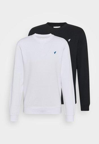 2 PACK - Sweatshirt - black/white