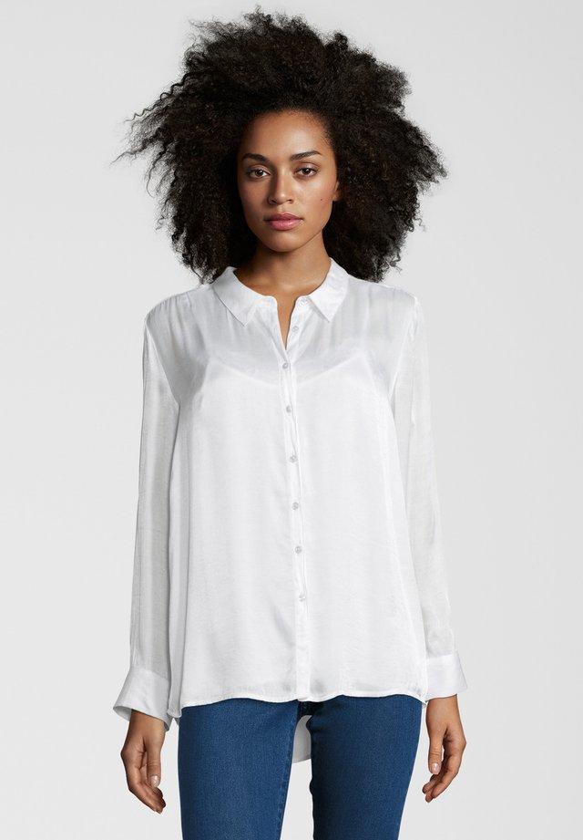 MIT SPITZENTOP - Camicia - white