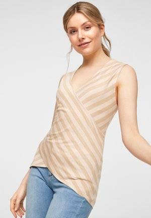 Top - beige stripes