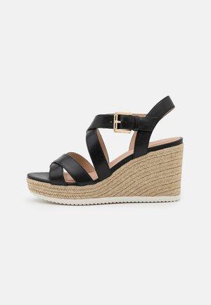 PONZA - Platform sandals - black