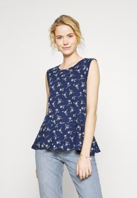 GAP - SLUB PEPLUM - Topper - navy - 0