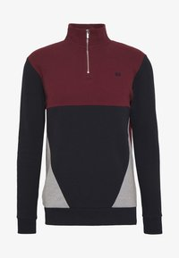 Burton Menswear London - BUR C'BLOCK HALF ZIP - Sudadera - burgundy - 4