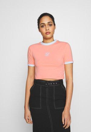 RINGER CROP TEE - Print T-shirt - apricot blush