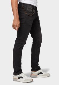 TOM TAILOR - TROY - Slim fit jeans - black stone wash denim - 3