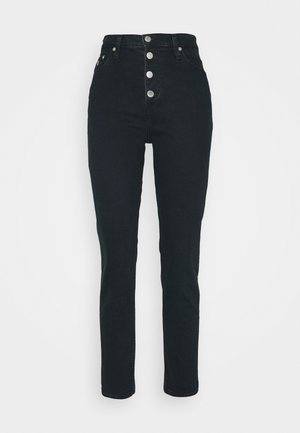 MOM - Jeansy Relaxed Fit -  blue black shank