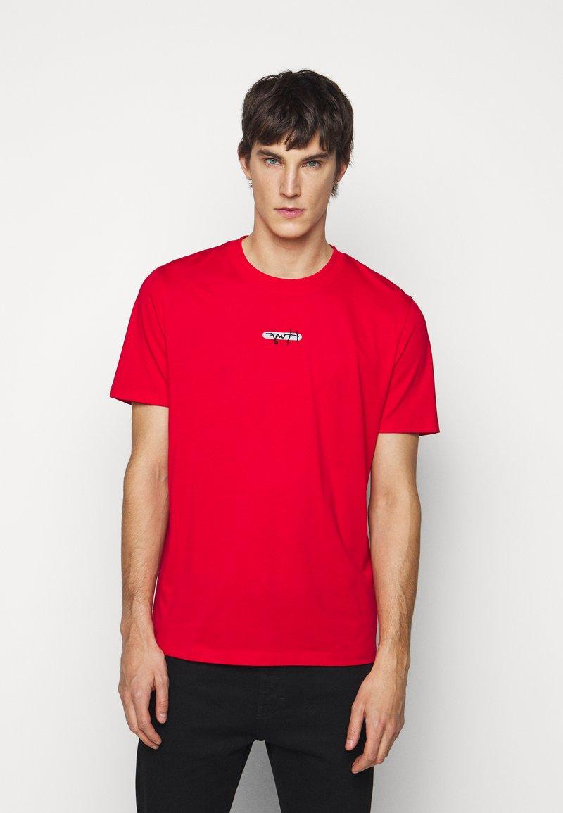 HUGO - DURNED - Print T-shirt - open pink