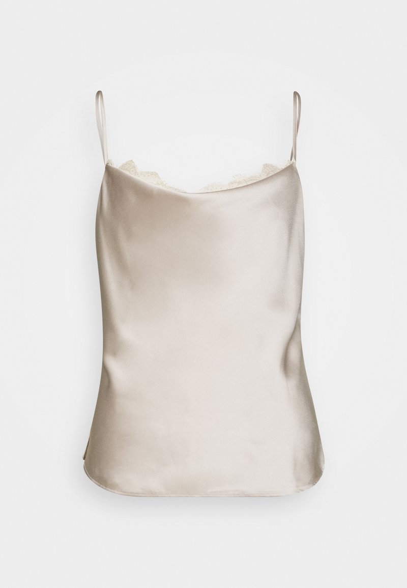 Abercrombie & Fitch - CHASE TRIM COWL CAMI  - Top - cream