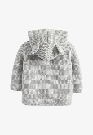 GREY KNITTED BEAR CARDIGAN (0MTHS-3YRS) - Gilet - grey