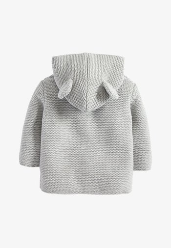 GREY KNITTED BEAR CARDIGAN (0MTHS-3YRS)