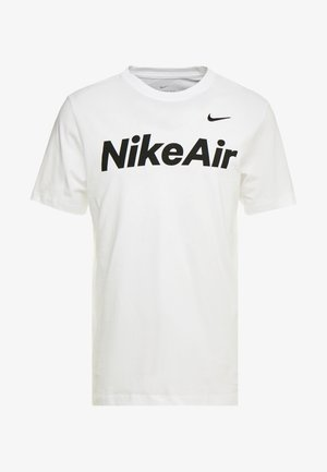 AIR TEE - Triko s potiskem - white/black