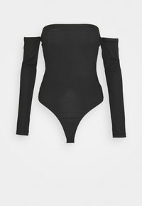 Missguided Tall - BARDOT BODYSUIT - Long sleeved top - black - 0