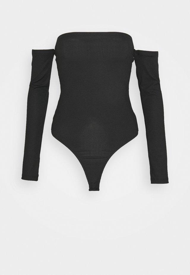BARDOT BODYSUIT - Maglietta a manica lunga - black