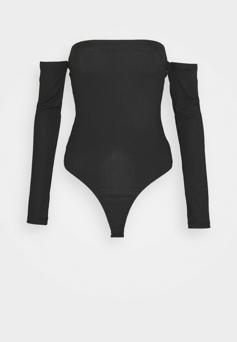 Missguided Tall - BARDOT BODYSUIT - Long sleeved top - black