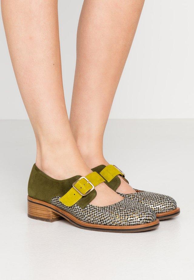 YUMMY - Slippers - dias gold/khaki/curry