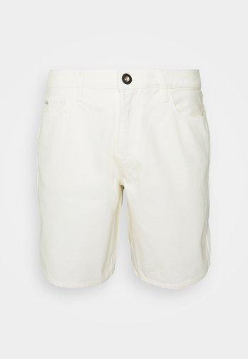BERMUDA - Denim shorts - white