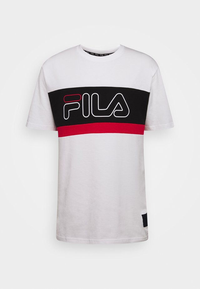 LAURENS TEE - T-shirt con stampa - bright white/black/true red