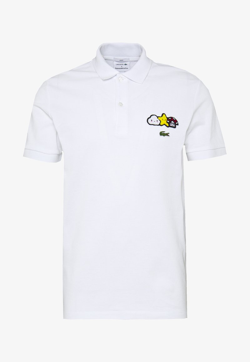 Lacoste - Unisex Lacoste x FriendsWithYou Design Classic Fit Polo Shirt - Piké - blanc